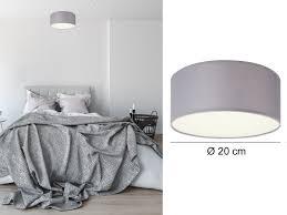 Beleuchtung Deckenleuchte Diele Grau Led Schlafzimmer Stoff Wohnzimmer
