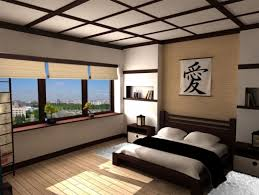 traditional japanese bedroom. Brilliant Traditional Traditional Japanese Bed Carpet Pillows Kanji Character Wall Storage  Bedside Tables Window Decorative Plants Books Asian And Traditional Japanese Bedroom