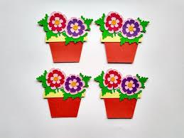 Paper Flower Pots Paper Flower Pot Flower Pot Die Cut Die Cut Plant Pot Set Of 4