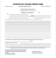 construction bid proposal template. Construction Bid Proposal Samples Construction Proposal Template