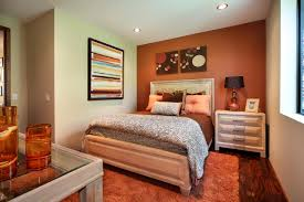 Bedroom:Charming Bedroom Design With Red Accent Wall Color And White Bed  Sheet Ideas Impressive