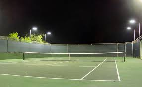 led tennis court lighting for private court