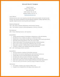 Ms Word Resume Template resume sample microsoft word good resume format 11