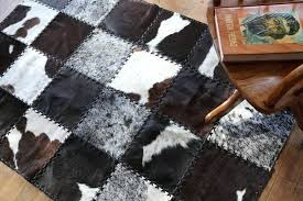 cowhide patchwork rug g0075261 stylish handmade area rug cowhide patchwork beautifully finished with leather cowhide