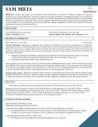 Gallery Of Nursing Medical Resume Examples Pharmacist Resume