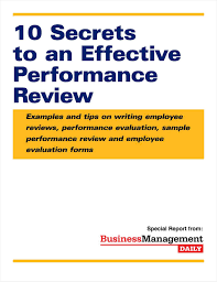 Examples Of Performance Review 10 Secrets To An Effective Performance Review Examples And