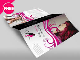 Free Download Brochure Free Barber Shop Tri Fold Psd Brochure Template Download By