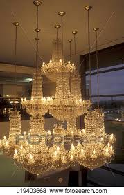 europe crystal republic of ireland ireland waterford the south beautiful crystal chandelier displayed inside the waterford crystal factory in county