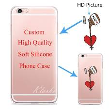 custom design diy transpae silicone case cover for iphone 6 6s 5 5s se 7 6plus customized printing cell phone case