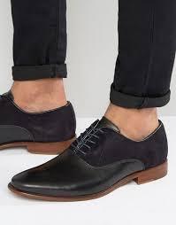 aldo kireviel leather suede oxford shoes black mens b37b4508 aldo men shoes