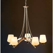45 4 forge ribbon 5 light chandelier hf hubbardton chandeliers