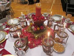 christmas dining table decor ideas pottery