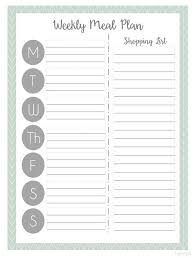 one week menu planner best 25 meal planning printable ideas on pinterest free