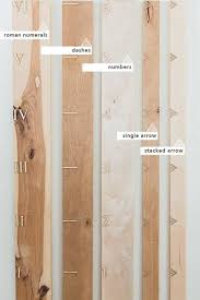 Growth Chart Markers Hickory Pecan Milestone Growth Chart Board