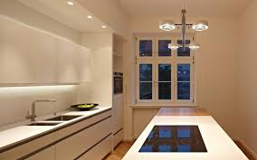 modern recessed lighting in kitchen