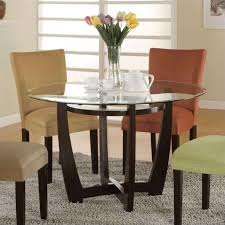 coaster bloomfield round dining table in cappuccino