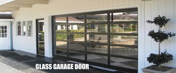 Commercial Glass Garage Doors For Decoration Aluminum Clear Glass
