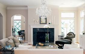 city townhome traditional living room orb chandelier in living room