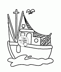 Small Picture Small Fishing Boat coloring page for kids transportation coloring
