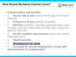Nanny Contracts Classy Sample Nanny Agreement Colbroco