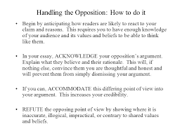 handling differing or opposing points of view in your essay ppt  3 handling