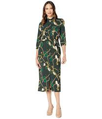 Donna Morgan Size Chart Donna Morgan Status Print 3 4 Sleeve Lightweight Stretch