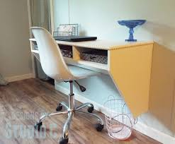 diy wall mounted desk with storage