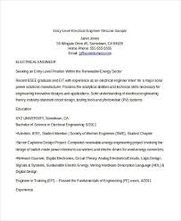entry level electrical engineering resume entry level engineering resume