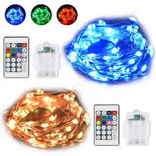 Timer 5m 5m 50led Battery Powered Silver Wire 8 Modes Timer Function Holiday String Light With Remote Control