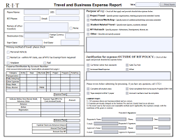 Excel Expense Report Form Template