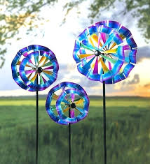 hanging spinning yard art metal wind spinner kinetic pinwheel sculpture outdoor decor celebration spinners set of