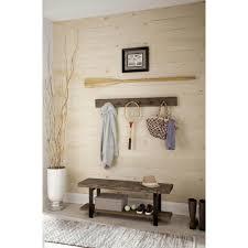Reclaimed Wood Wall Coat Rack Alaterre Furniture Pomona Reclaimed Wood Coat Hook with Bench 92