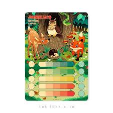 Forest Animals Magnetic Reward Chart Tok Tokkie