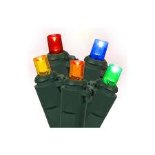 set of 100 multi color led wide angle christmas lights green wire walmart