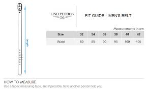 Mens Belt Size Chart Cm Lino Perros Men Leather Belt Black