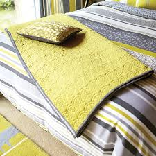 grey striped bedding by scion yellow grey throw