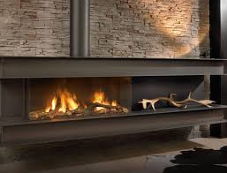 gas fireplace contemporary closed hearth built in seno
