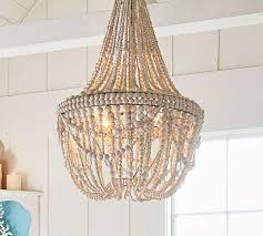 unique creative co op chandelier white wood bead chandelier campernel designs large version