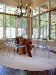 dining table design with glass top. design ideas, fabulous transparent dining chairs and natural wooden table with glass top w