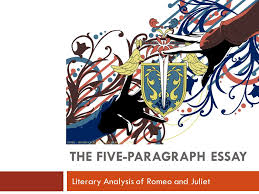 the five paragraph essay literary analysis of romeo and juliet  1 the five paragraph essay literary analysis of romeo and juliet