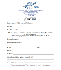 Walk A Thon Form Walkathon Sponsor Form Image Fppk School