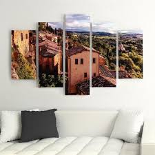 5 panel pictures decor painting