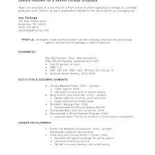 Sample Resumes Work Experience Resume Examples For Student With No