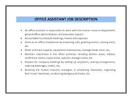 Office Assistant Objective Resume Examples Office Assistant Cocinacolibri Com