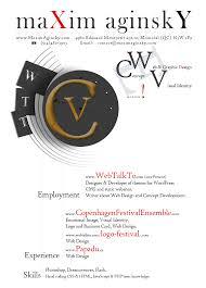 Designing My Curriculum Vitae Maxim Aginsky S Log
