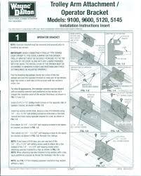 trolley arm operator bracket instructions
