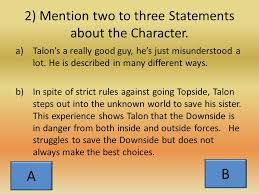 the character analysis essay the introduction go hook mention  5 sentence