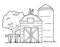 Barn Coloring Pages Farm Embroidery Patterns Farm Coloring Pages