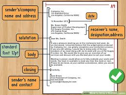 Business Correspondence Letters Examples The Best Way To Write And Format A Business Letter Wikihow