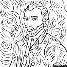 Small Picture Van Gogh Coloring Pages Coloring Book of Coloring Page